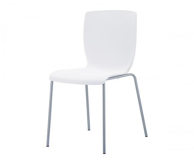 Полипропиленов градински стол Мио - бял