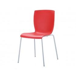 Полипропиленов градински стол Мио - червен