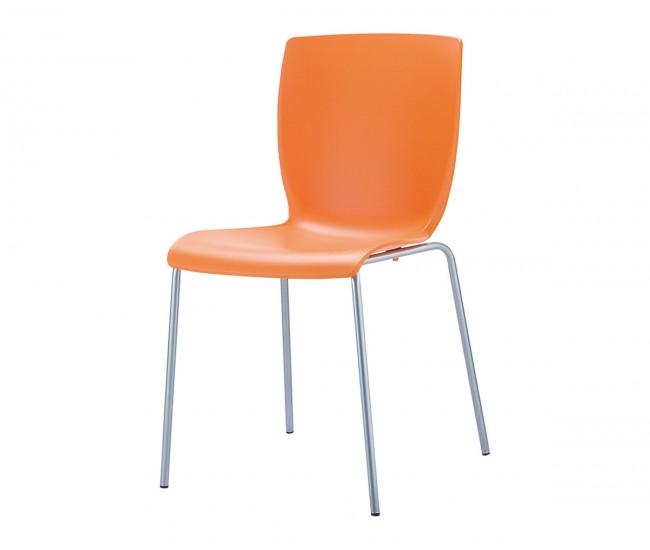 Полипропиленов градински стол Мио - оранжев