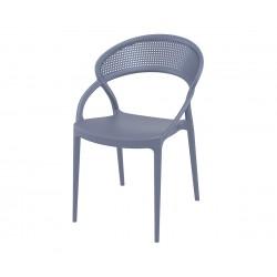 Полипропиленов градински стол Сънсет - сив