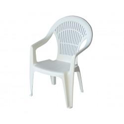 Пластмасов градински стол с подлакътници Вега - бял