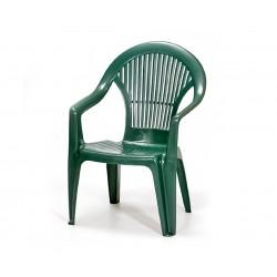 Пластмасов градински стол с подлакътници Вега - зелен