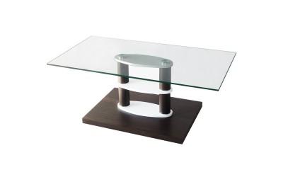 Холна маса MDF D-671 венге / стъкло