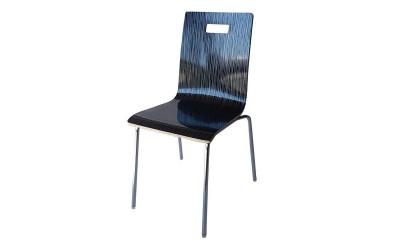 Трапезен стол 8036А - черно райе