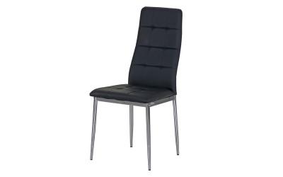 Тапициран трапезен стол AM-A-310, еко кожа - черен