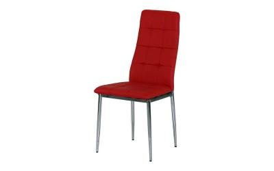 Тапициран трапезен стол AM-A-310, еко кожа - червен
