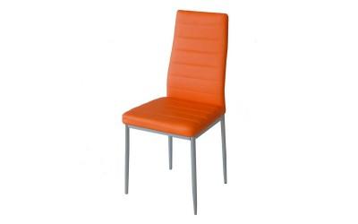 Тапициран трапезен стол АМ-С170, еко кожа - оранжев