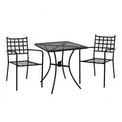 Градински комплект HM10402 - маса и два стола с подлакътници