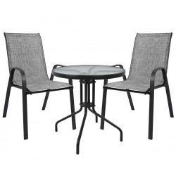 Градински комплект HM5181.01 - кръгла маса и два стола