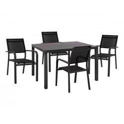 Градински алуминиев комплект HM10515 - маса и четири стола