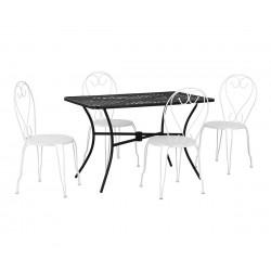 Градински комплект HM10405.12 - маса и четири стола Amore