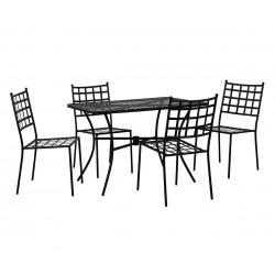 Градински комплект HM10406 - маса и четири стола