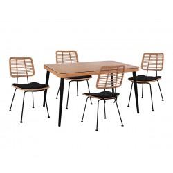 Градински комплект Allegra Wicker HM10492 - маса и четири стола
