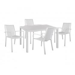 Градински алуминиев комплект HM10521 - маса и четири стола
