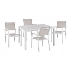 Градински алуминиев комплект HM10523 - маса и четири стола