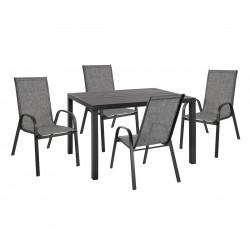 Градински алуминиев комплект HM10525 - маса и четири стола