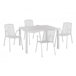 Градински комплект HM10526 - маса и четири стола