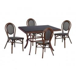Градински комплект Bamboo Look HM10548 - маса и четири стола