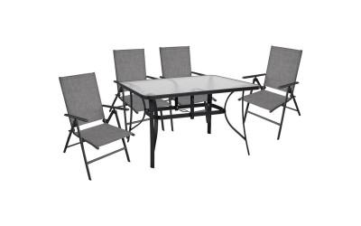 Градински комплект HM10558.01 - маса и четири стола