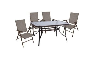 Градински комплект HM10558.02 - маса и четири стола
