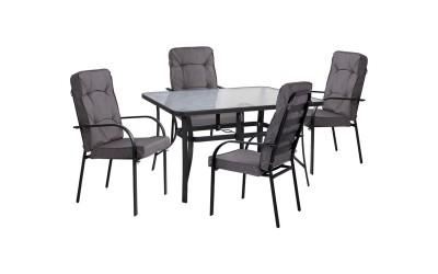 Градински комплект HM10562.01 - маса и четири стола с възглавници