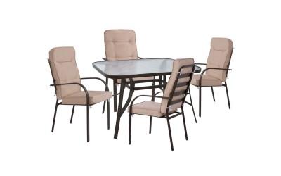 Градински комплект HM10563.02 - маса и четири стола с възглавници