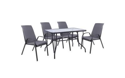 Градински комплект HM10566.01 - маса и четири стола с възглавници