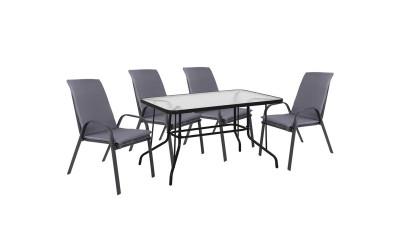 Градински комплект HM10568.01 - маса и четири стола с възглавници