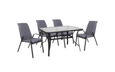 Градински комплект HM10569.01 - маса и четири стола с възглавници