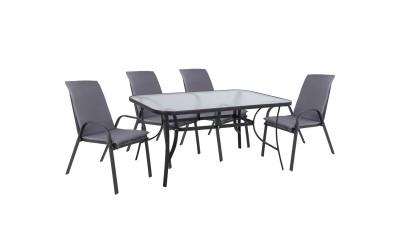 Градински комплект HM10570.01 - маса и четири стола с възглавници
