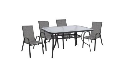 Градински комплект HM5201.01 - маса и четири стола