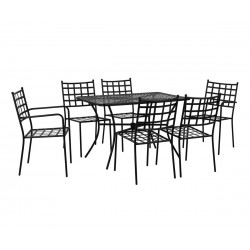 Градински комплект HM10407 - маса и шест стола