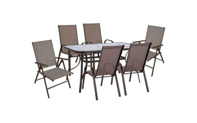 Градински комплект HM10558.02 - маса и шест стола