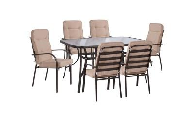 Градински комплект HM10561.02 - маса и шест стола с възглавници