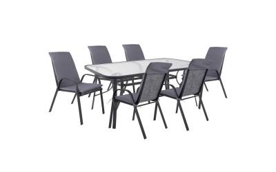 Градински комплект HM10571.01 - маса и шест стола с възглавници