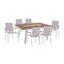 "Градински комплект HM5235.01 - маса и шест стола ""Miller"""