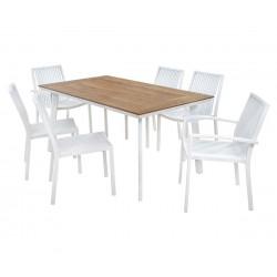 Градински комплект HM5244.01 - маса и шест стола
