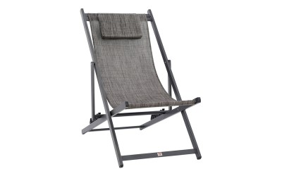 Сгъваем плажен стол HM5076.10 - Сив