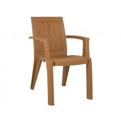 Стол HM5593.02 - Бежов с дървесен акцент
