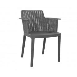 Комплект от 4 бр. кресла HM8115.01 - полипропилен в сиво