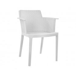 Комплект от 4 бр. кресла HM8115.02 - полипропилен в бяло