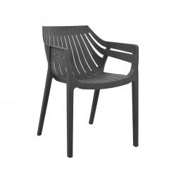 Комплект 4 бр. стол HM8116.01- Сив полипропилен
