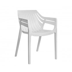 Комплект 4 бр. столове HM8116.02- Бял полипропилен