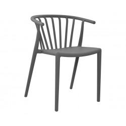 Комплект от 4 бр. стол HM8117.01- Сив полипропилен
