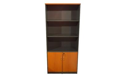 Офис шкаф HM2014.03 - Череша/Тъмносив