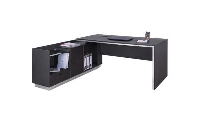 Офис бюро с шкаф Rosewood HM2086L - ляв ъгъл - Венге/Графит