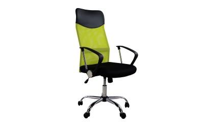 Офис стол HM1000.03 - Електриково зелено/Черно с подлакътници