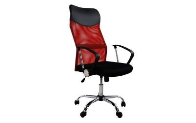 Офис стол HM1000.07 - Черно/Червено с подлакътници
