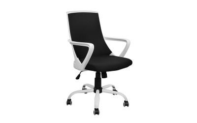Офис стол HM1053.01 - Черно/Бяло с подлакътници