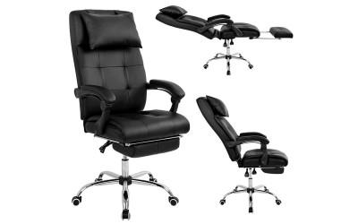 Геймърски стол Synchro HM1057.01 - Черен с подлакътници